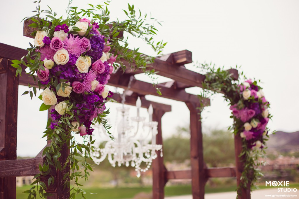 Purple Wedding Dreams Reflection Bay Golf Club Wedding Las Vegas