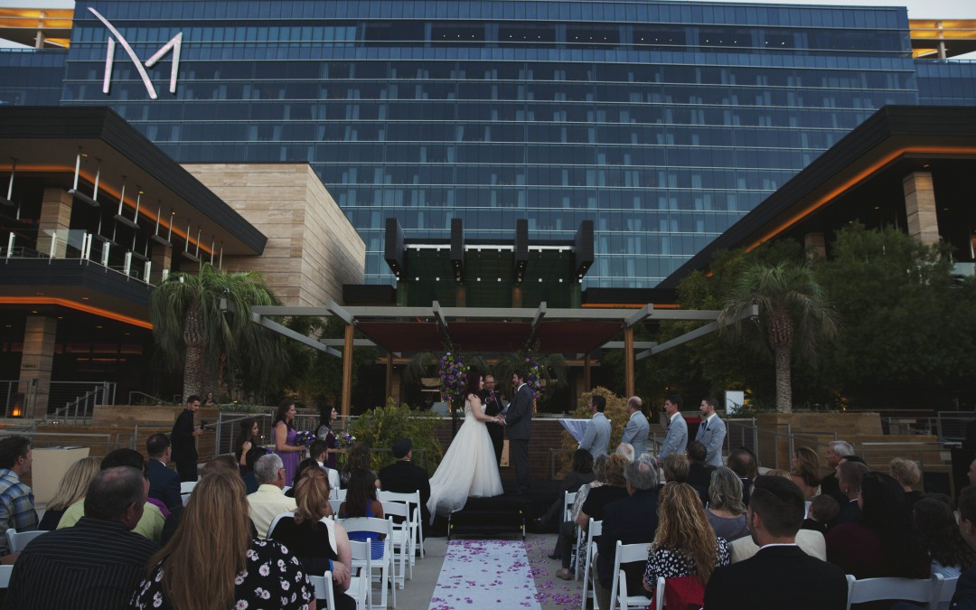 Romantic Purple-and-Green Las Vegas Destination wedding