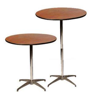 "36"" Round Cocktail Table rental vegas"