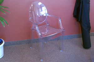 Ghost Chair with Arms Rental Vegas
