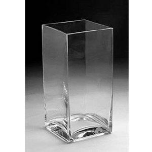 "10"" Glass Vertical Rectangle Vase"