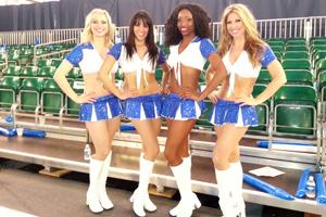 Blue & White Cheer Costume