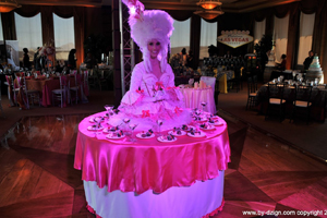 Fuchsia Living Table Costume