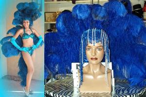 Blue Showgirl Costume