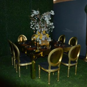Gold Mirror Table