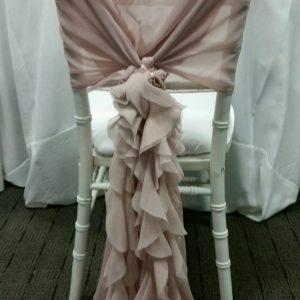 Blush Pink Chair Wrap Rental