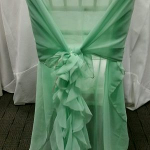 Mint Curly Willow Chair Wrap