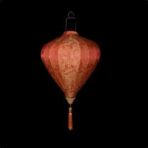 """20"""" Red / Orange Silk Chinese Lantern"""