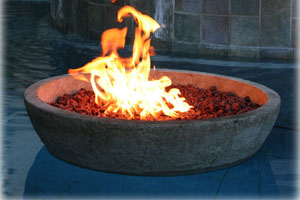 Stone Floating Fire Pit