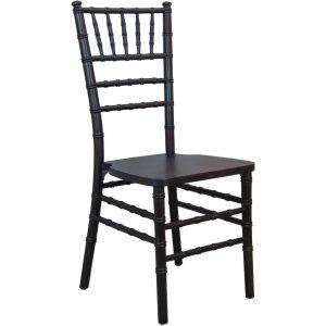 Black Wood Chiavari Chair Rental