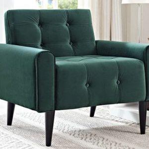 Emerald Green Velvet Armchair Rental Vegas