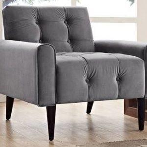Grey Velvet Armchair Rental Vegas