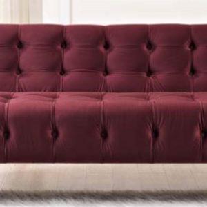 Merlot Velvet Sofa Rental Vegas