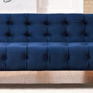 Navy Velvet Sofa Rental Vegas
