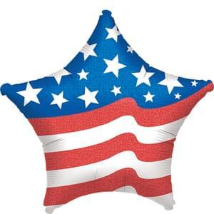 "19"" Patriotic Star Balloon"