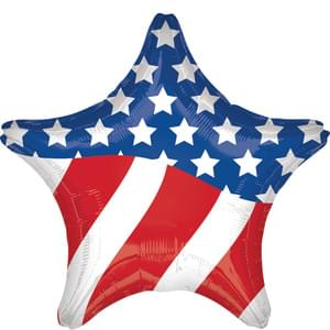 "28"" American Flag Star Balloon"