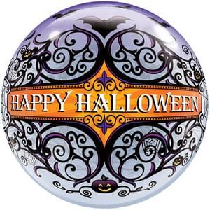 "22"" Halloween Scroll and Bats Bubble Balloon"