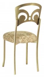 Gold Fleur de Lis with Ravena Boxed Chenille Cushion