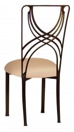 Bronze La Corde with Beige Stretch Knit Cushion