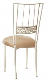Ivory Bella Fleur with Beige Stretch Knit Cushion