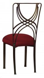 Bronze La Corde with Burnt Red Dupioni Boxed Cushion