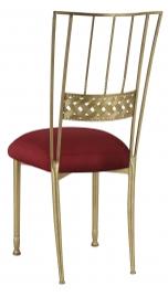 Gold Bella Braid with Burnt Red Dupioni Boxed Cushion