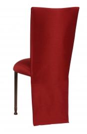 Burnt Red Dupioni Jacket with Boxed Cushion on Mahogany Legs