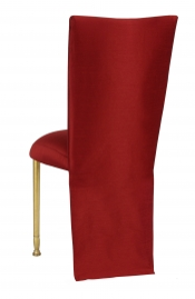 Burnt Red Dupioni Jacket with Boxed Cushion on Gold Legs