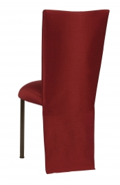 Burnt Red Dupioni Jacket with Boxed Cushion on Brown Legs