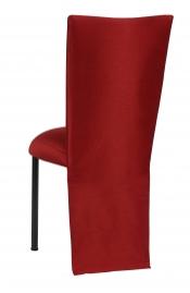 Burnt Red Dupioni Jacket with Boxed Cushion on Black Legs