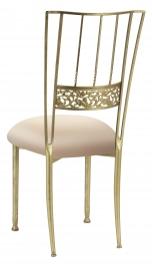 Gold Bella Fleur with Buttercream Stretch Knit Cushion