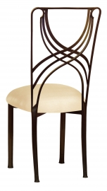 Bronze La Corde with Champagne Metallic Knit Cushion