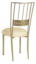Gold Bella Braid with Champagne Metallic Knit Cushion