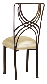 Bronze La Corde with Champagne Nu Silk Boxed Cushion