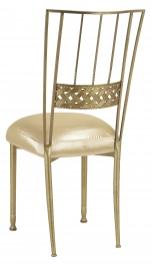 Gold Bella Braid with Champagne Nu Silk Boxed Cushion