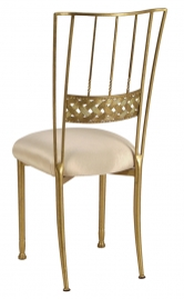 Gold Bella Braid with Champagne Bengaline Cushion