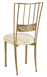Gold Bella Fleur with Champagne Bengaline Cushion