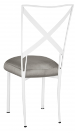 Simply X White with Charcoal Taffeta Boxed Cushion