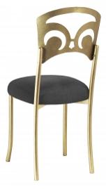 Gold Fleur de Lis with Charcoal Linette Boxed Cushion