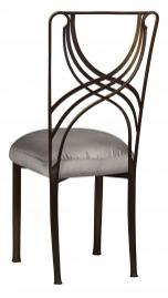 Bronze La Corde with Charcoal Taffeta Boxed Cushion