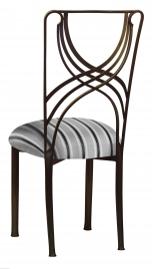 Bronze La Corde with Charcoal Stripe Cushion