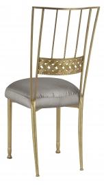 Gold Bella Braid with Charcoal Taffeta Boxed Cushion