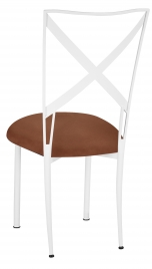 Simply X White with Cognac Suede Cushion