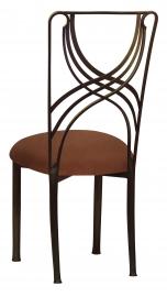 Bronze La Corde with Cognac Suede Cushion