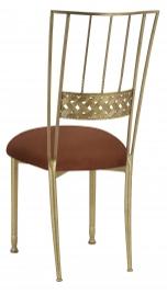 Gold Bella Braid with Cognac Suede Cushion