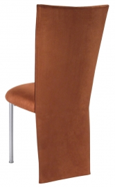 Cognac Suede Jacket and Cushion on Silver Legs