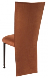 Cognac Suede Jacket and Cushion on Mahogany Legs