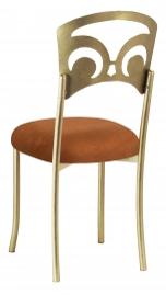 Gold Fleur de Lis with Copper Suede Cushion