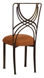 Bronze La Corde with Copper Suede Cushion