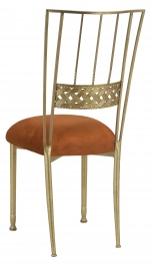 Gold Bella Braid with Copper Suede Cushion